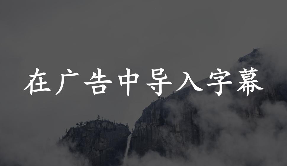 EDIUS Pro 8  在广告中导入字幕