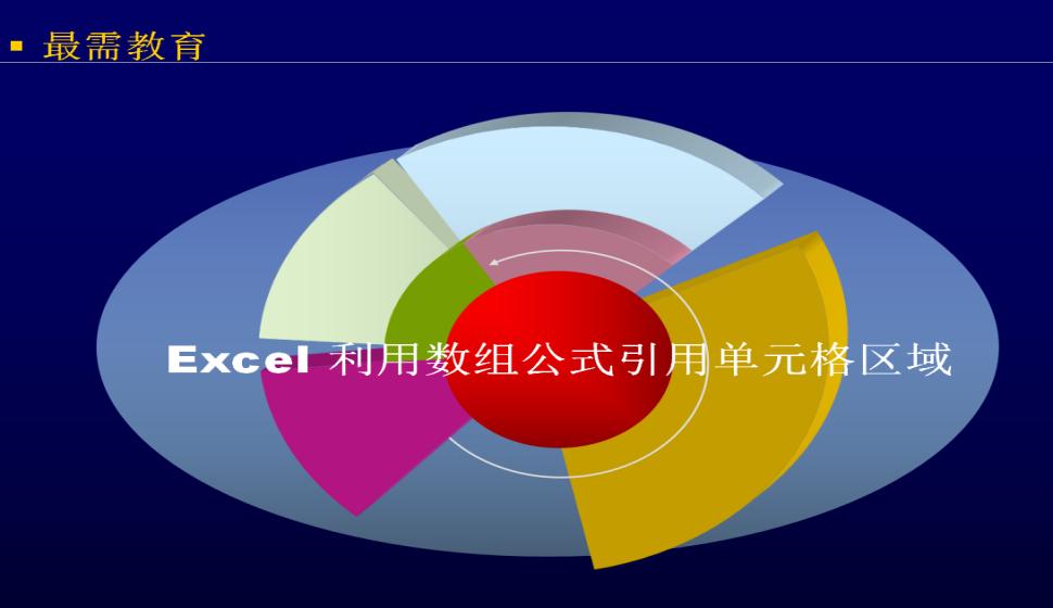 Excel 利用数组公式引用单元格区域